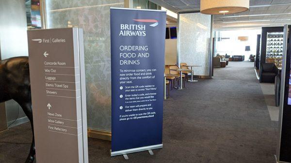 British Airways Signage-in-the-lounge