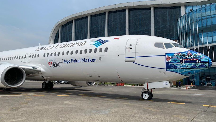 Garuda Indonesia Unveils New Face Mask Livery Business Traveller