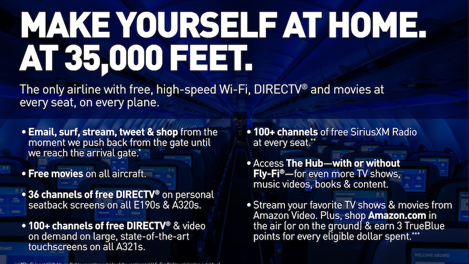 Jetblue first to offer free wifi, live TV and movies on