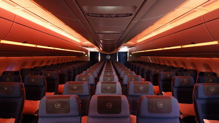Lufthansa a350 900 interior