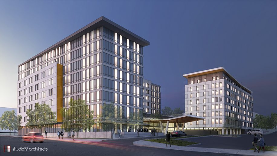 A Pair Of New Hotels Will Soon Begin Rising On The Site An Old Motel Near Seattle Tacoma Sea Tac International Airport