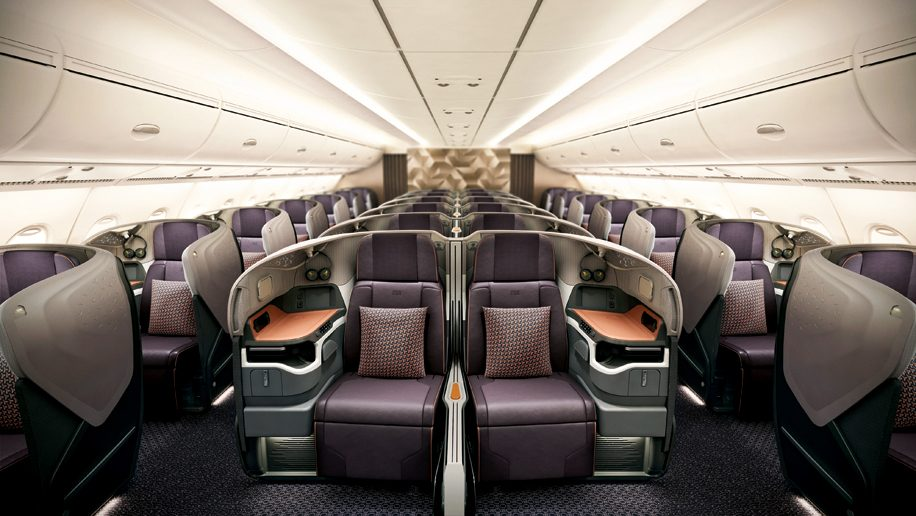 Singapore Airlines New A380 Business Cl
