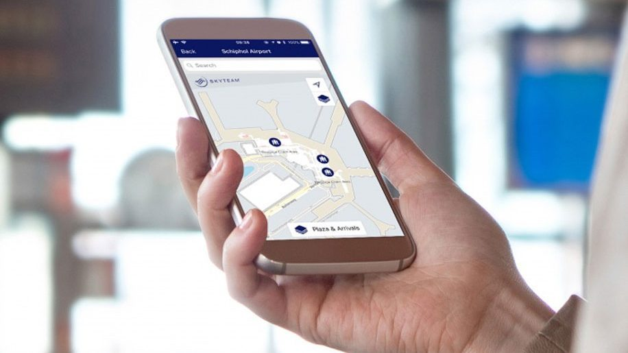 Kết quả hình ảnh cho The new airport maps add to the existing features of the SkyTeam app images
