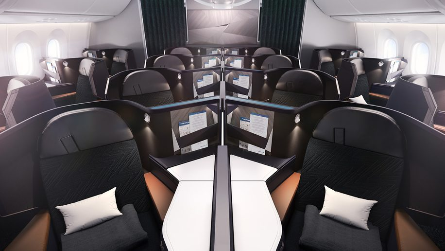Westjet Unveils First Business Class Seat And New Livery