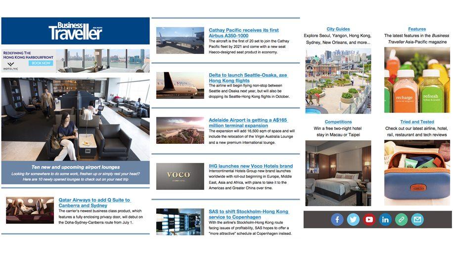 Sign up to the Business Traveller newsletter – Business Traveller