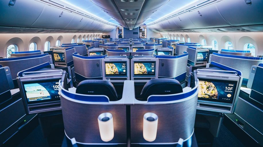 Classe executiva Polaris na B787-10 da United