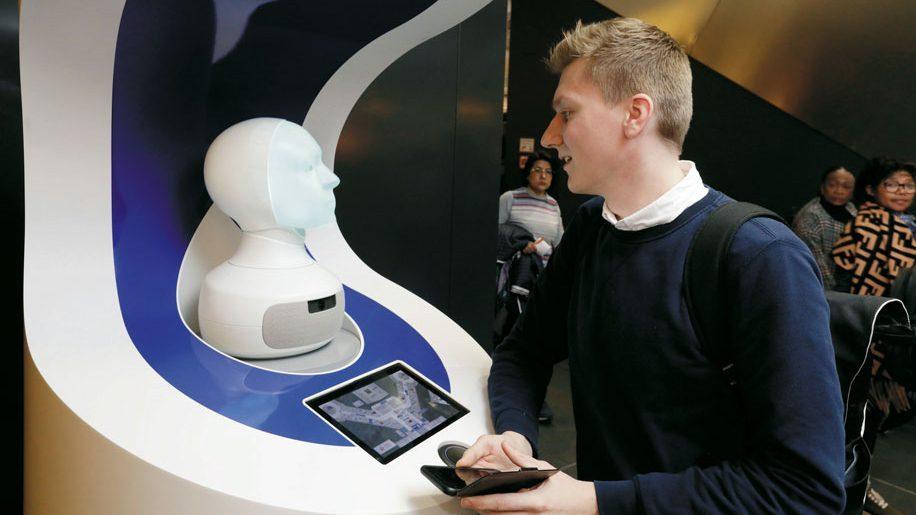 Frankfurt airport trials talking head AI assistant