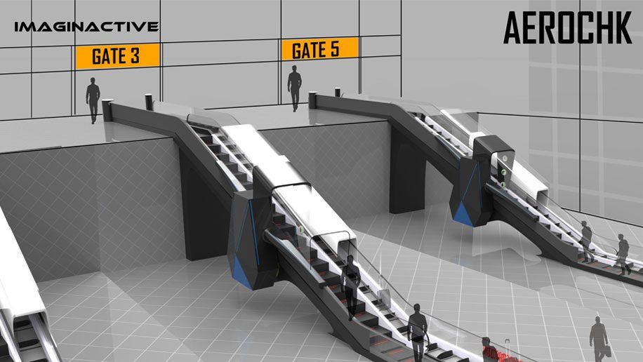 Designers share concept for airport security escalator