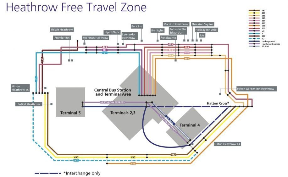 Zones Of London Map, Heathrow Free Travel Zone May 2018, Zones Of London Map