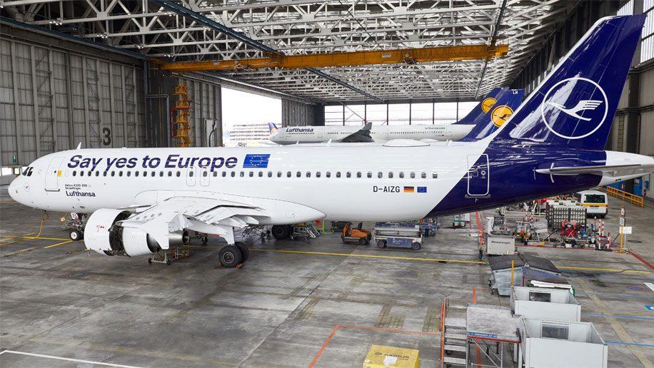 Lufthansa flies pro-European message ahead of EU elections