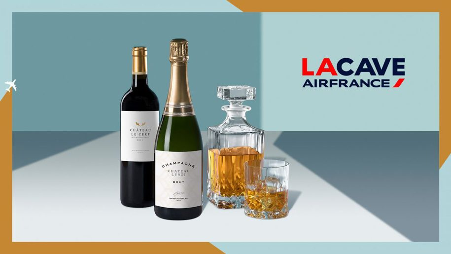Passengers can now buy Air France wines and spirits online