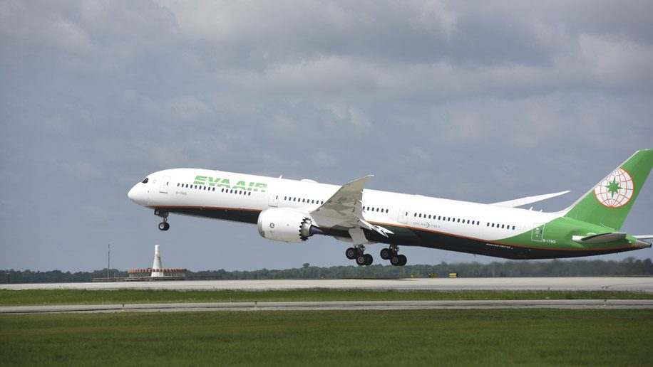 EVA Air takes first Boeing 787-10 Dreamliner, with new business class seats