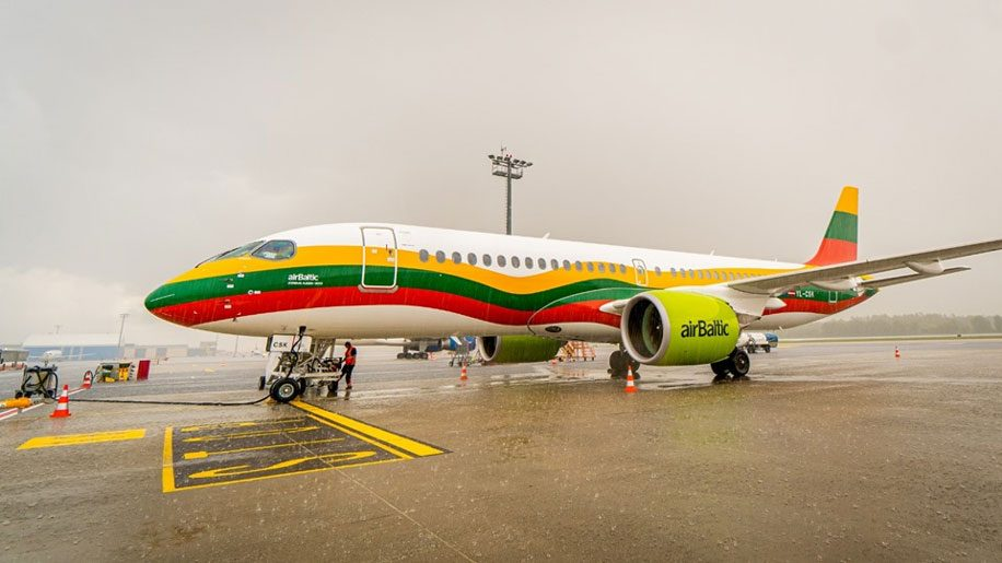Air Baltic unveils livery inspired by Lithuanian flag