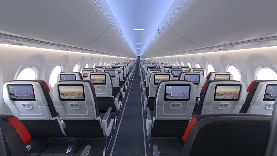 Air Canada unveils A220 interiors