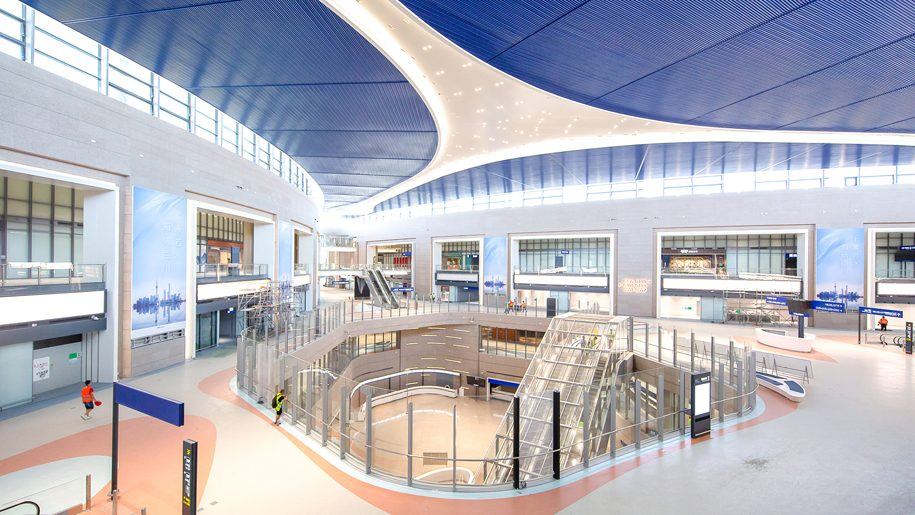 Shanghai Pudong Airport Satellite Terminal Interior – Credit: Shanghai Airport Authority