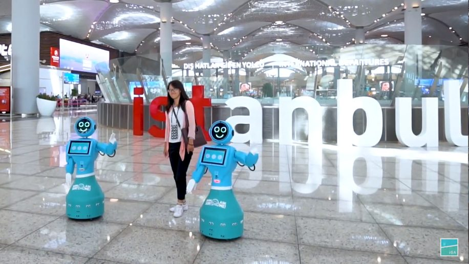 Robots join staff at Istanbul Airport