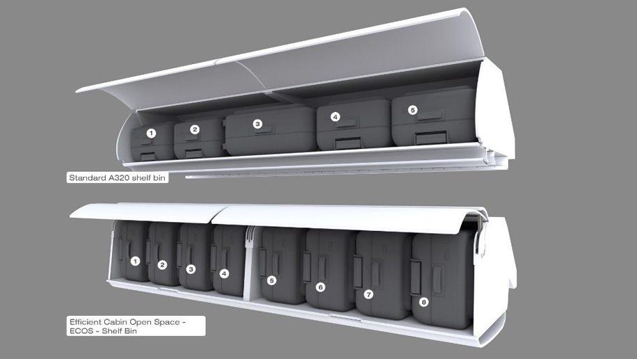 Air France lançará compartimentos de bagagem maiores