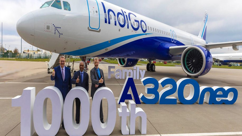 Indigo commences flight services to Riyadh; takes delivery of new A321neo aircraft