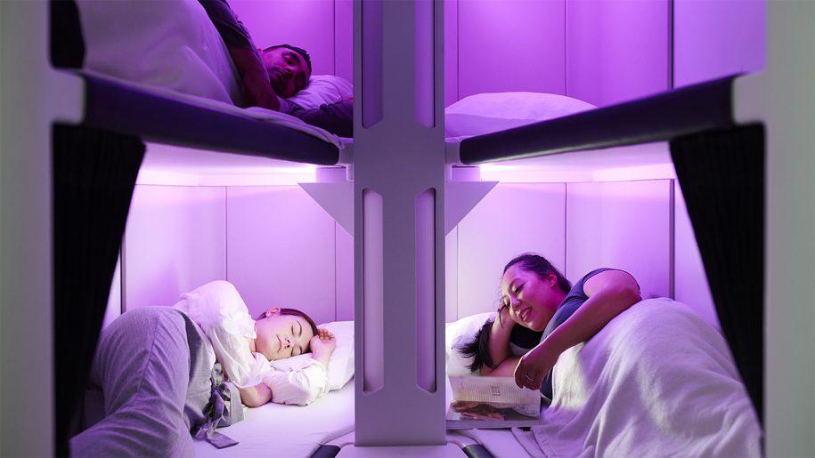 Air New Zealand terá beliches na classe econômica de seus voos