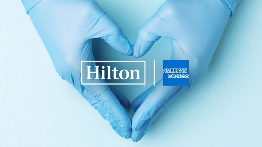 Hilton e American Express doam 1 milhão de quartos nos EUA à equipe médica